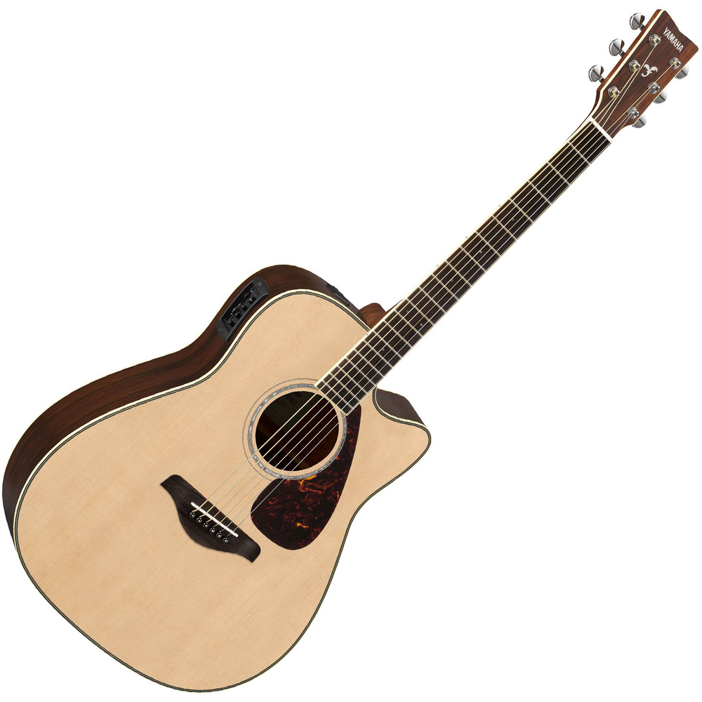 Yamaha FGX830C Acoustic Guitar w/Pick Up - Natural
