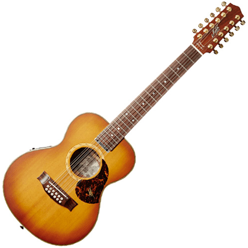 Maton EMD/12 DIESEL SPECIAL - All Solid Mahogany 12 string Mini Acoustic/Electric Guitar w/case