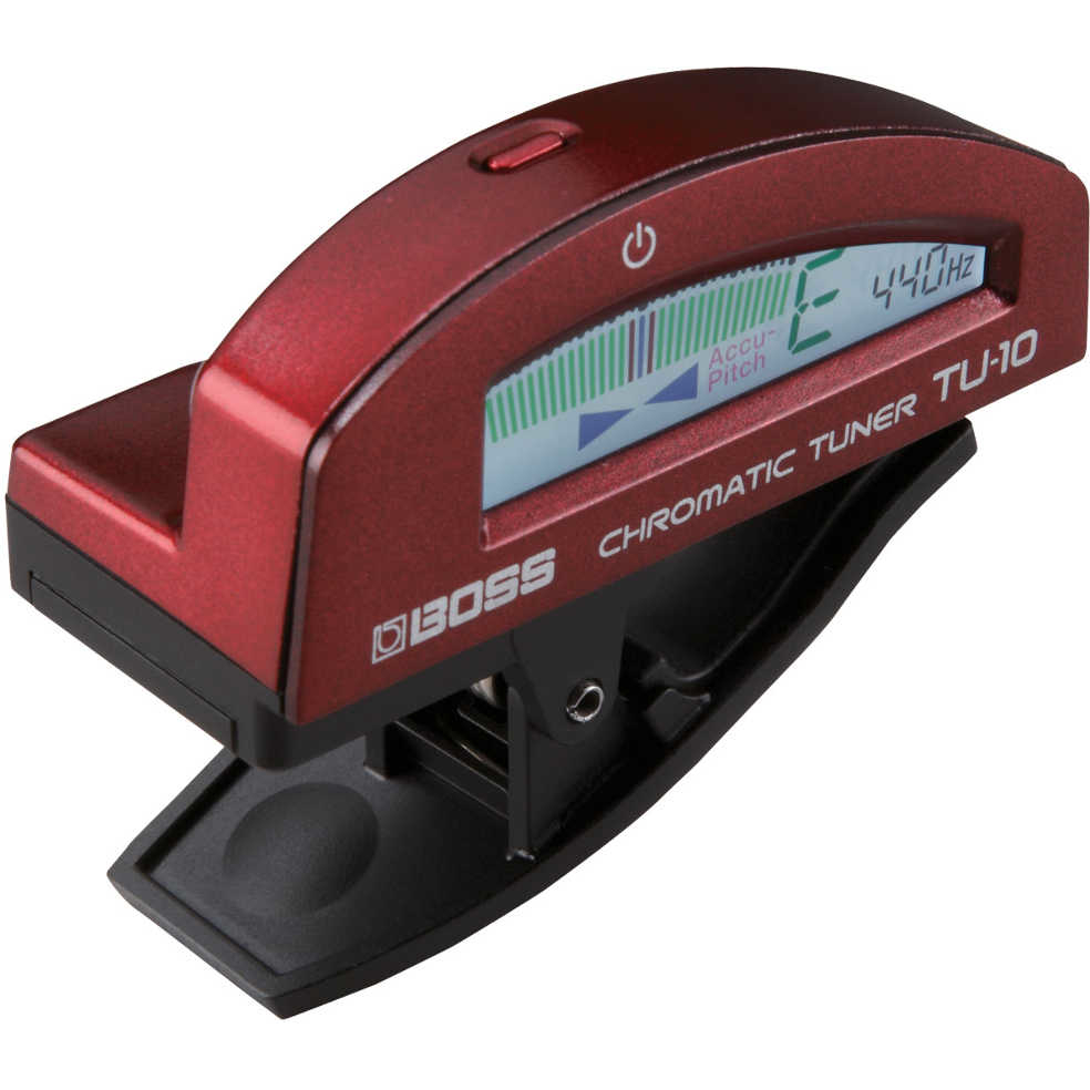 Boss TU-10 Clip on Chromatic Tuner (Red)