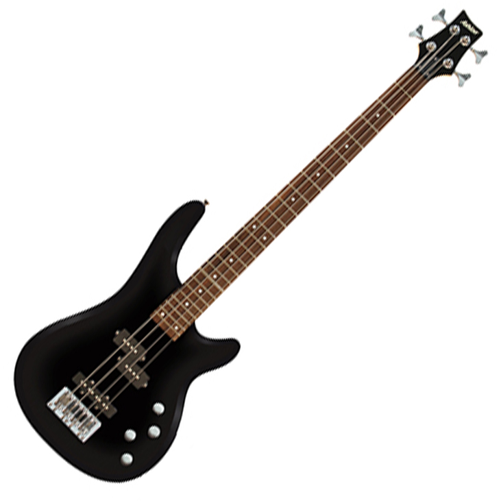 Ashton AB4BK Bass Guitar in Black - Black