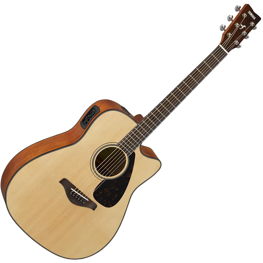 Yamaha FGX800C Steel String w/Cutaway Acoustic Guitar - Natural