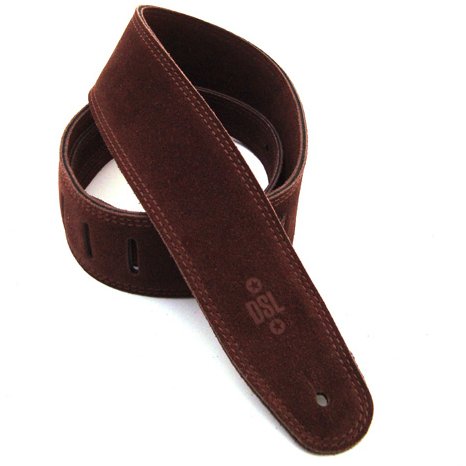 DSL SLS25-BROWN Genuine Leather Strap 2.5 inch - Brown/Brown