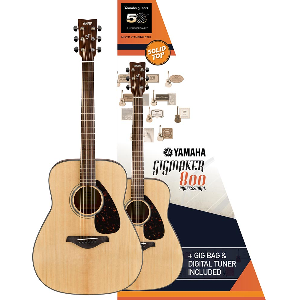 Yamaha Gigmaker800M Acoustic Guitar Pack - Natural Matte