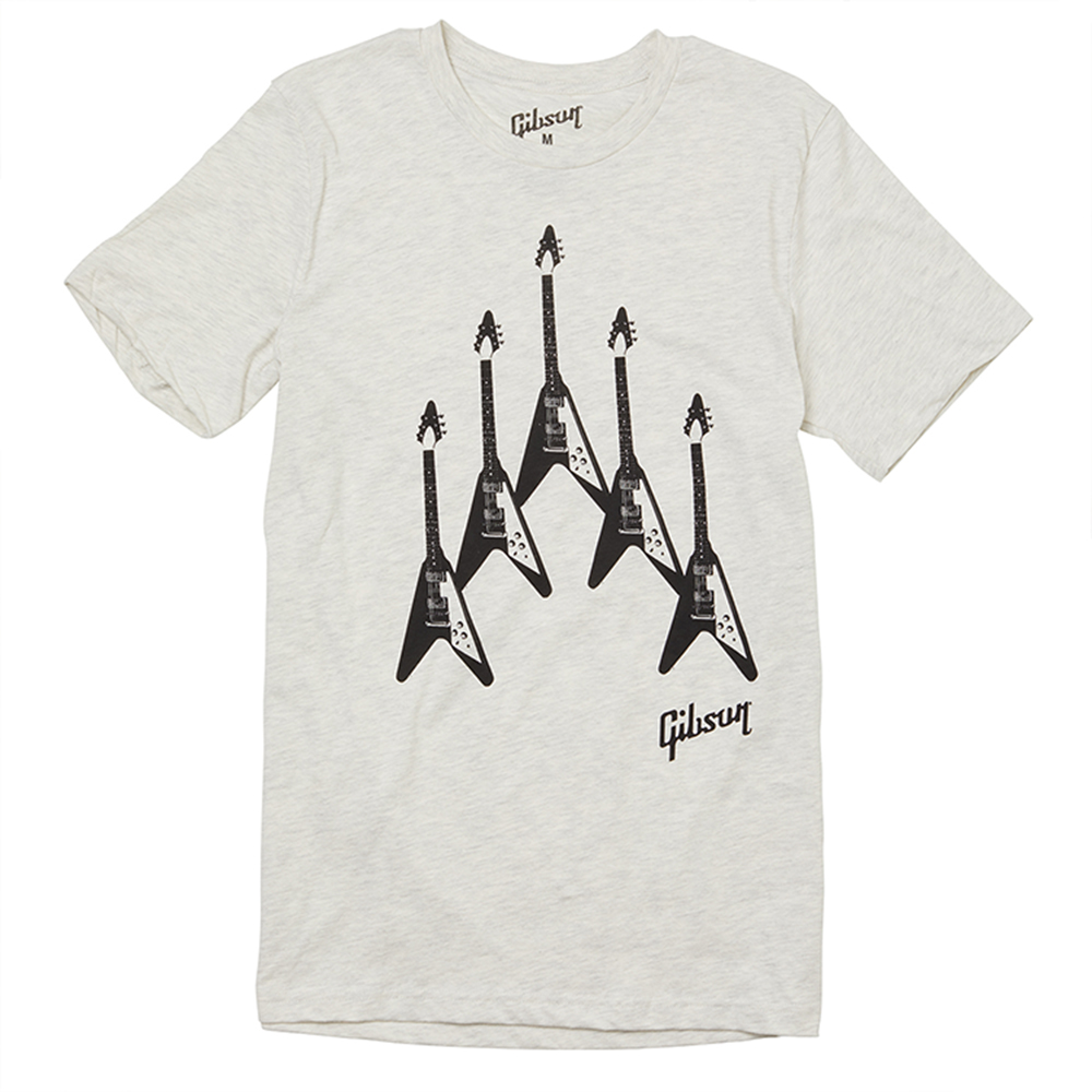 Gibson Flying V 'Formation' Tee - Large T Shirt