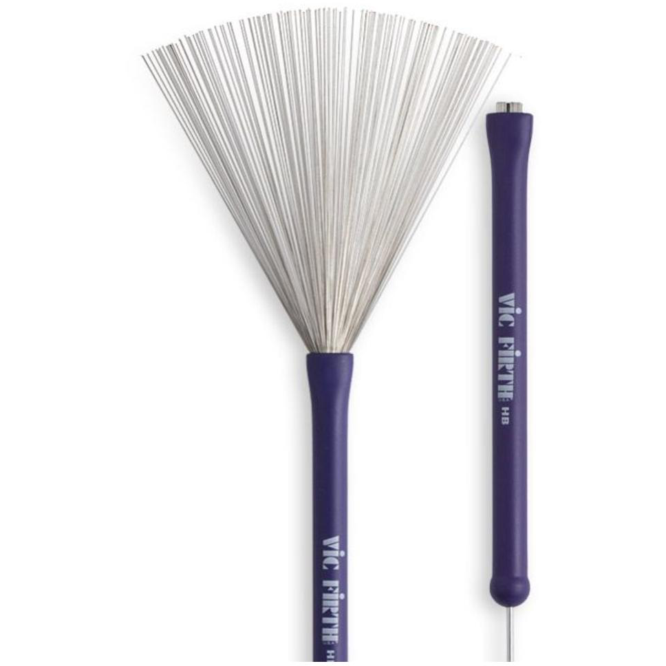 Vic Firth Heritage Brushes Purple Handle Retractable