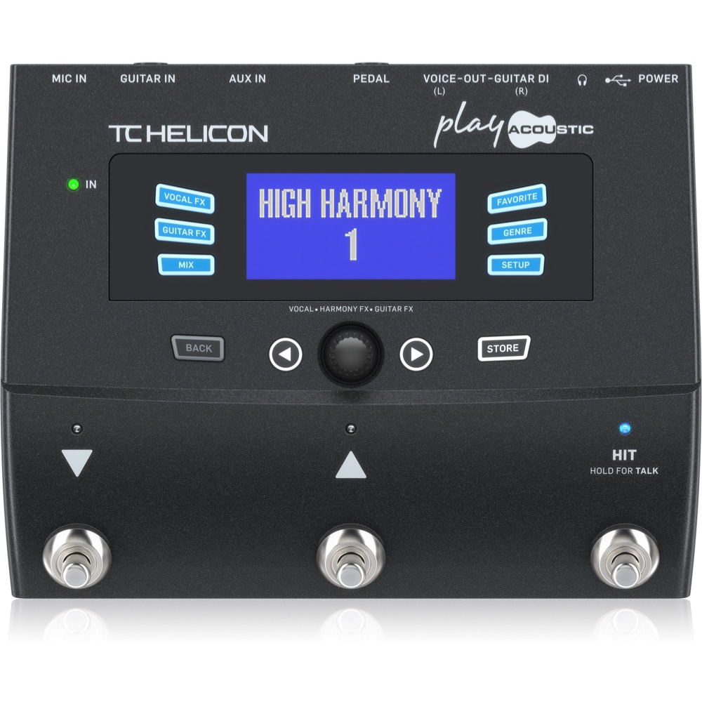 TC Helicon Play Acoustic Vocal Processor Pedal
