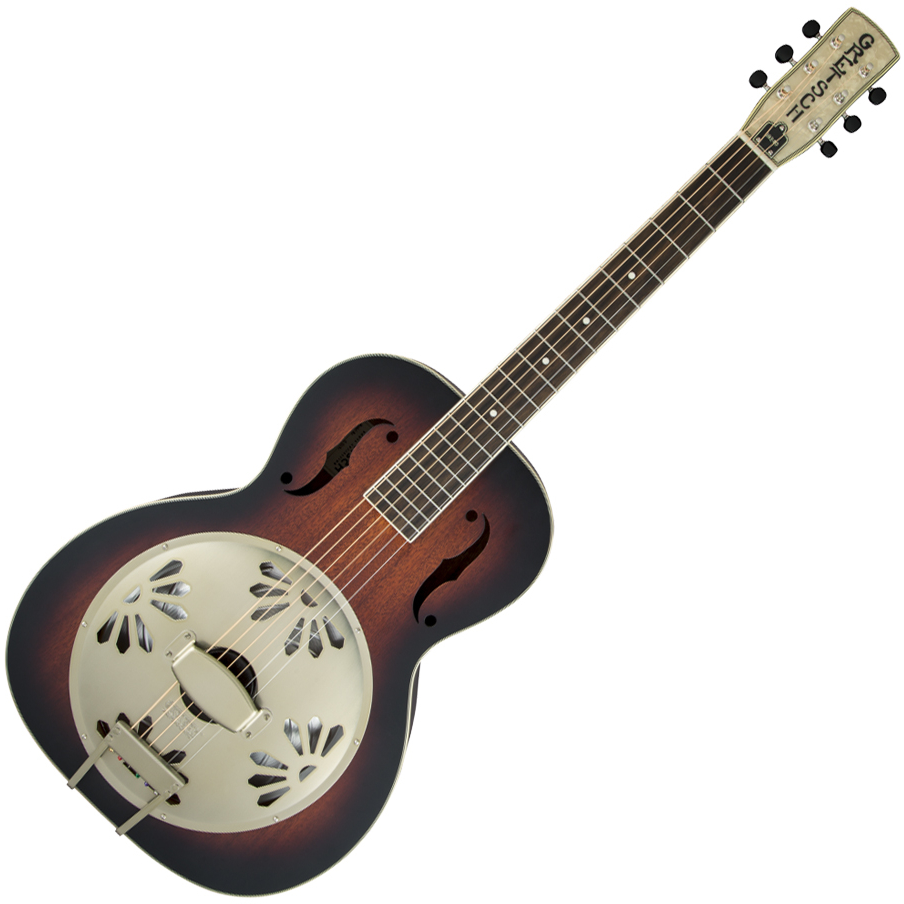 Gretsch G9240 Alligator Round-Neck - Mahogany Body Biscuit Cone Resonator Guitar - 2-Color Sunburst