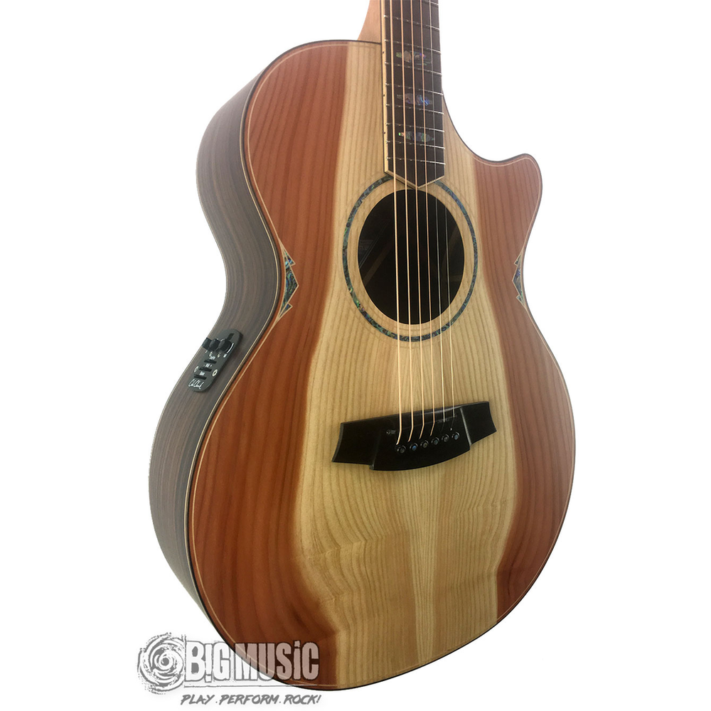 Cole Clark An Grand Auditorium - Redwood Face / Rosewood Back / Side - Cutaway