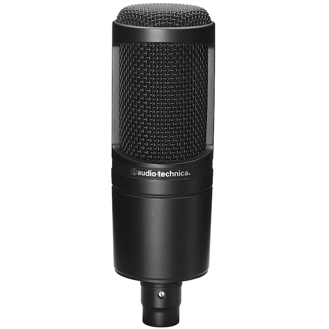 Audio-Technica AT2020 Cardioid Electret Condenser Microphone - Black