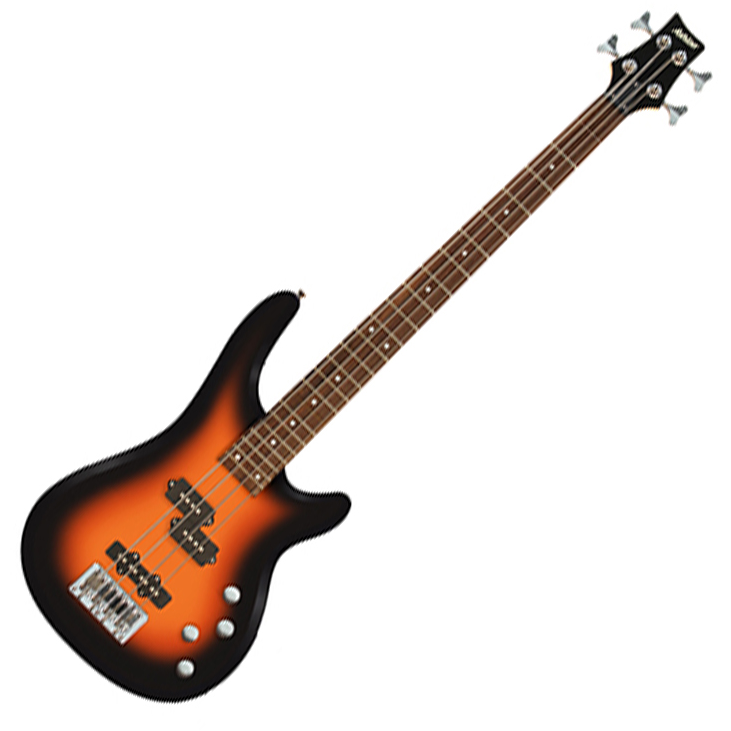 Ashton AB4TSB Bass Guitar in Sunburst - Brown