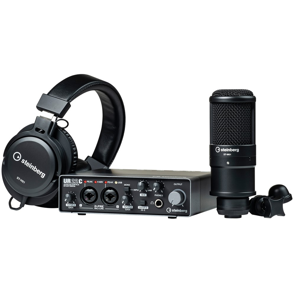 Steinberg UR22C 2x2 USB 3.0 Audio Interface Recording Pack