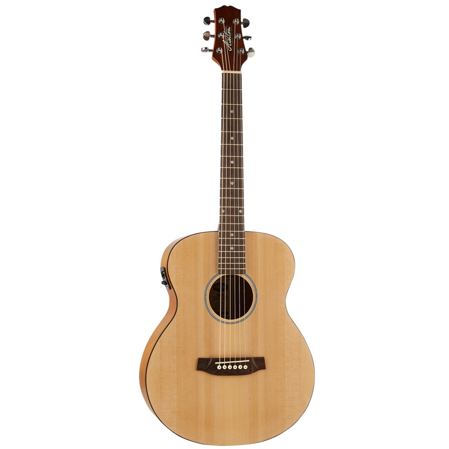 Ashton JJR20EQ NTM Junior Jumbo Acoustic Guitar with EQ - Natural