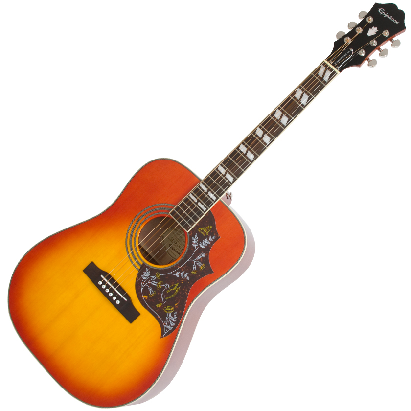 Epiphone Hummingbird Pro Acoustic/Electric Faded Cherryburst - Cherry