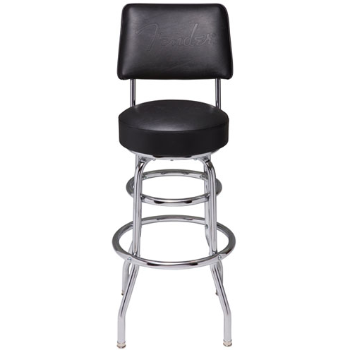 "Fender Backrest Barstool 30"" Black"