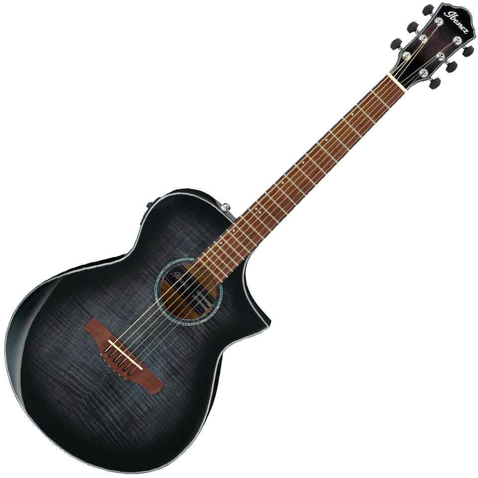 Ibanez AEWC400 TKS Acoustic Electric Guitar - Transparent Black Sunburst High Gloss