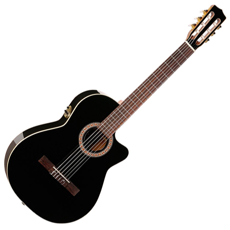 Godin Nylon Classical Hybrid Cutaway EQ Black Gloss, with bag