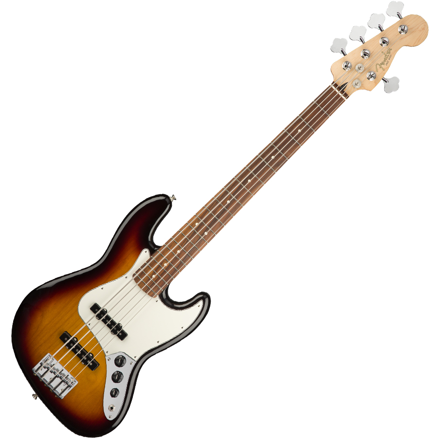 Fender Player Jazz Bass Guitar V - Pau Ferro / 3-Color Sunburst