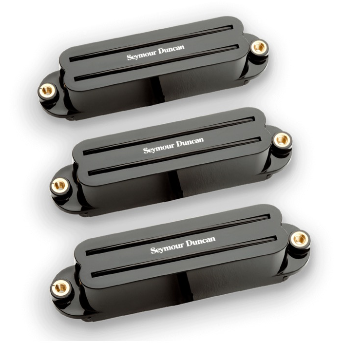 SEYMOUR DUNCAN SET HOT RAILS STRAT BLACK