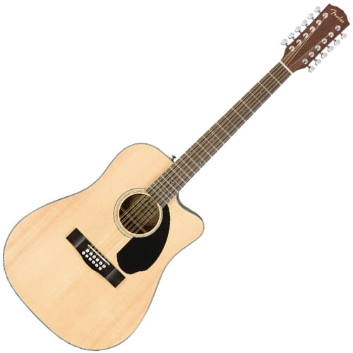 Fender CD-60SCE-12 12 String Acoustic-Electric Guitar - Natural