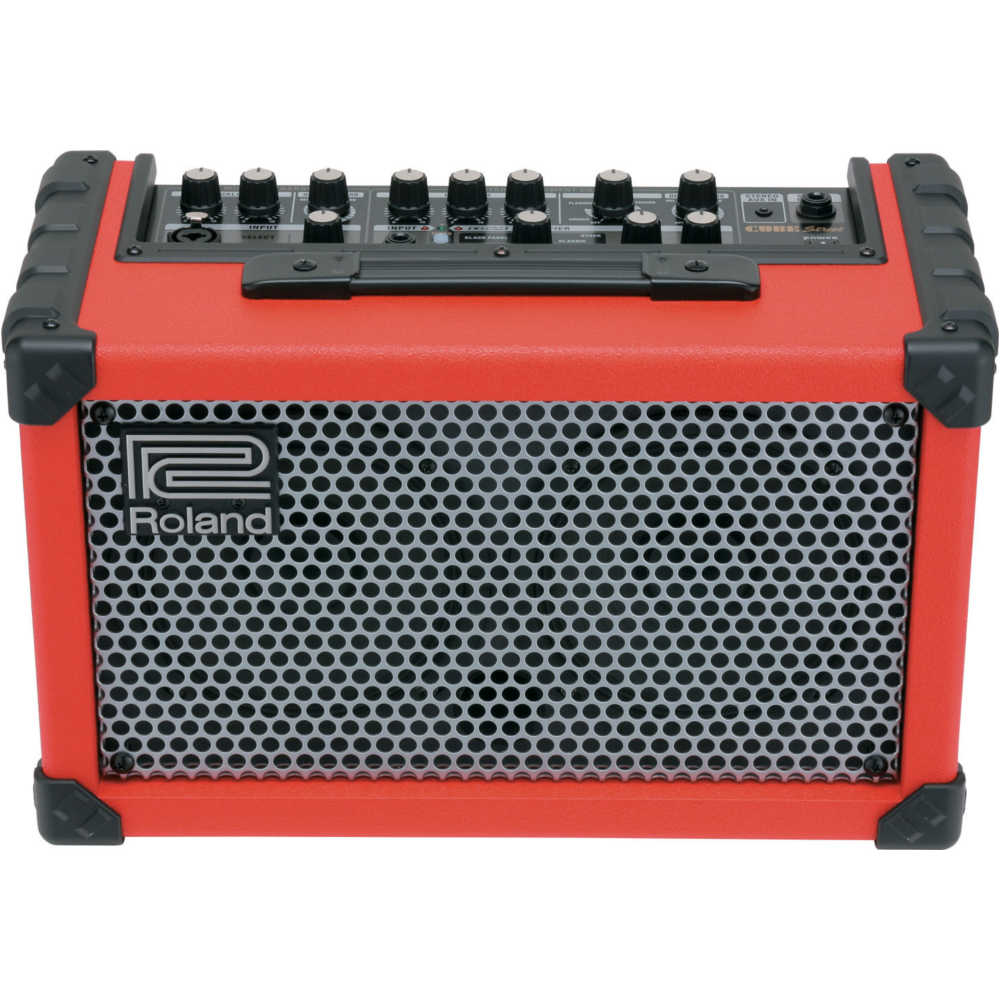 Roland Cube Street - Battery Powered Stereo Amplifier in Red