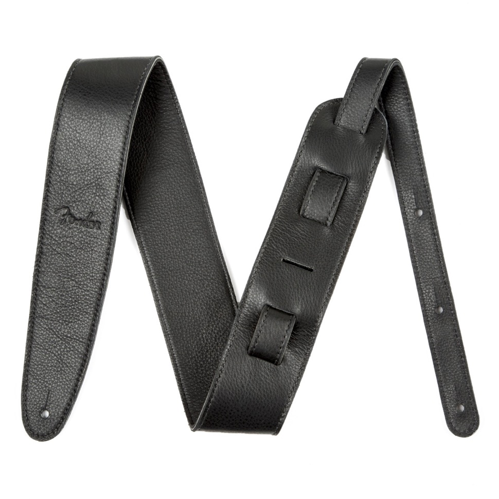 "Fender Fender Artisan Crafted Leather Straps - 2.5"" Black"