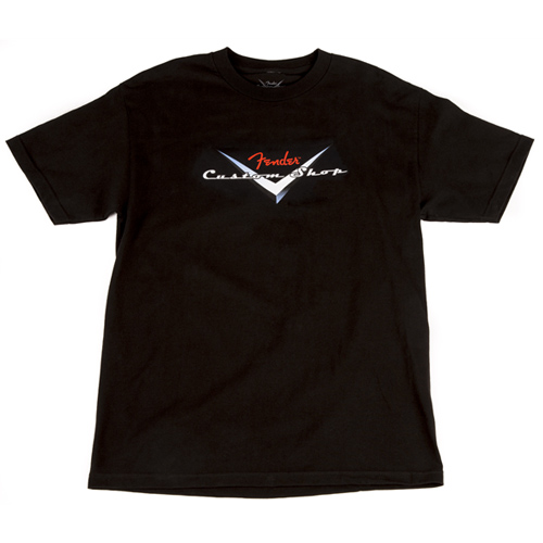 Fender T-Shirt - Custom Shop Original Logo - Black (L)