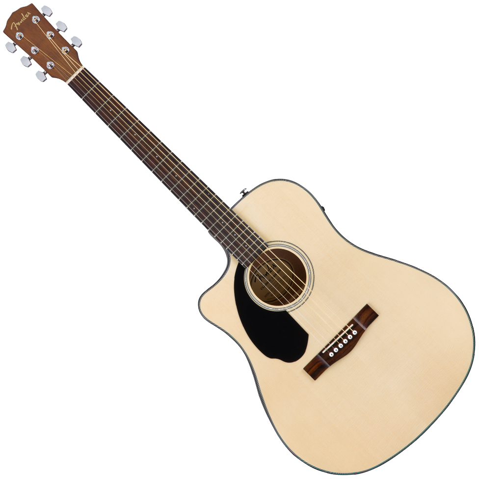 Fender CD-60SCE Left Handed Acoustic Guitar - Natural, Walnut Fingerboard