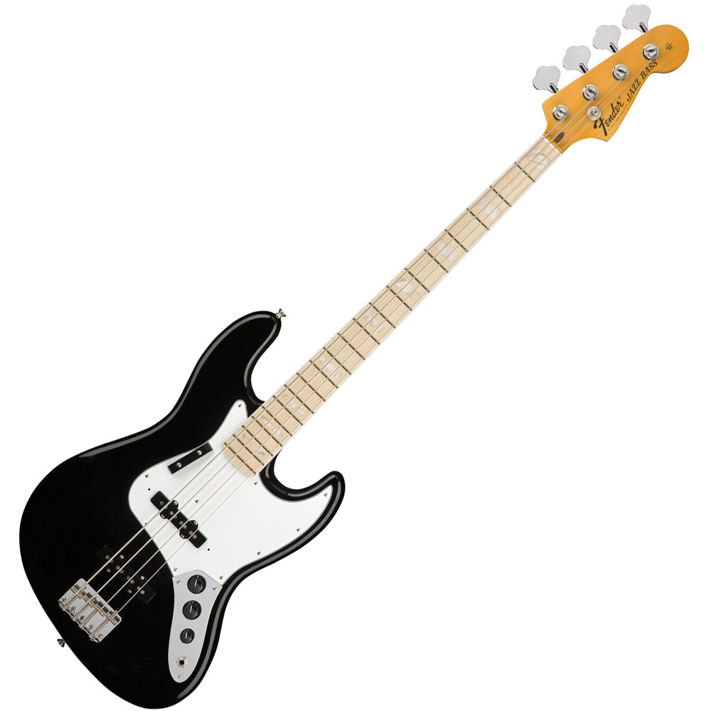 Fender American Original 70's Jazz Bass - Maple/Black w/Case