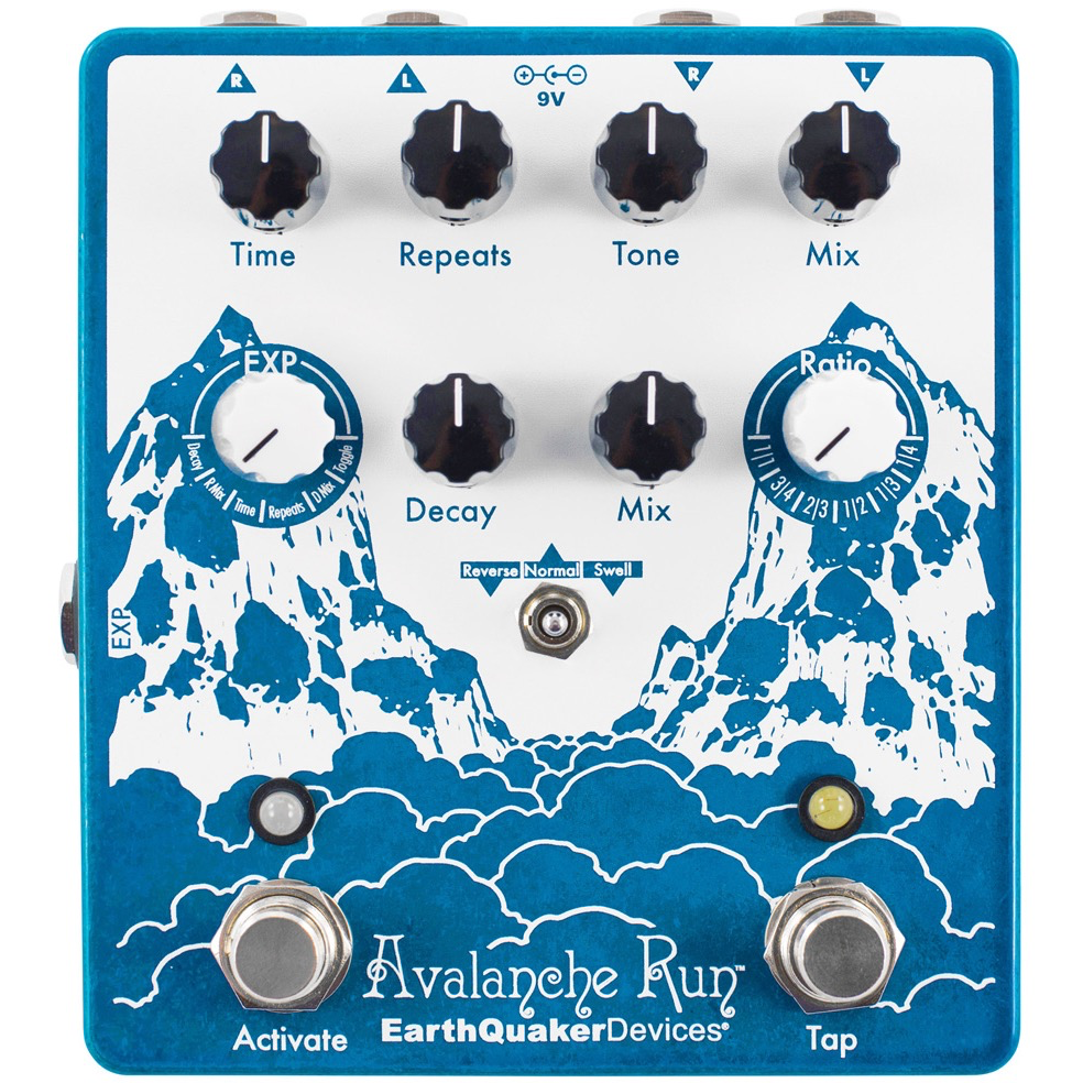 EarthQuaker Devices Avalanche Run V2 W/Ac Delay/Reverb Pedal