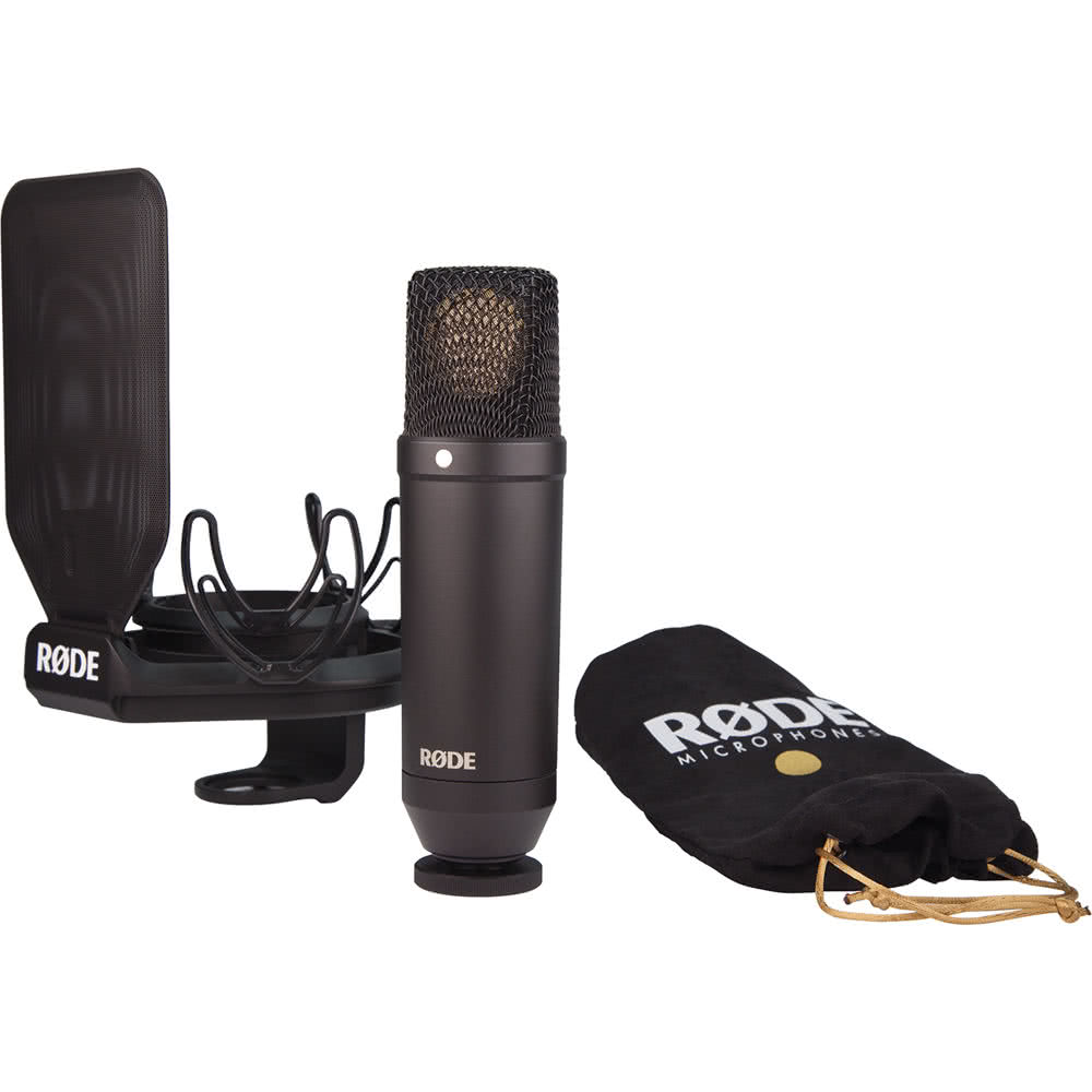 Rode NT1-KIT Studio Condenser Microphone w/Shock Mount & Pop filter