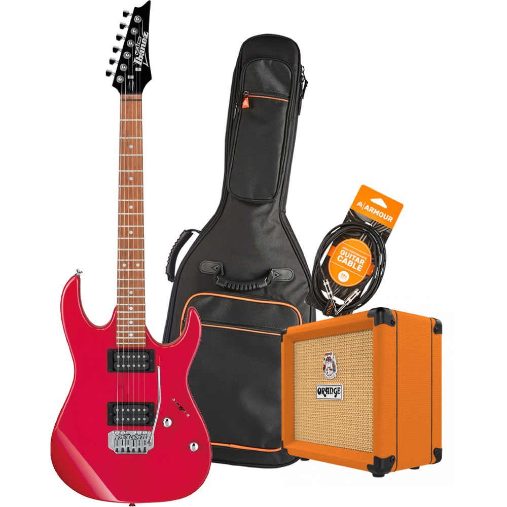 Ibanez RX22EXRD Electric Guitar Pack with Orange Crush 12 Amplifier - Armour Gig Bag and Lead
