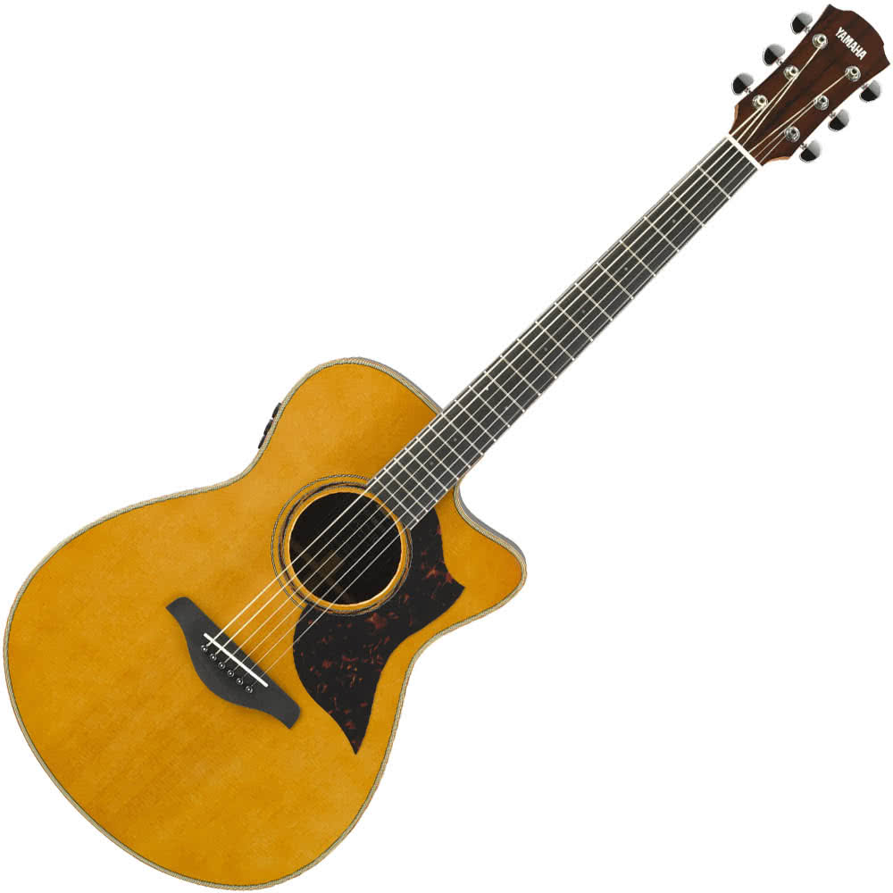 Yamaha AC3R ARE Concert Body Acoustic Guitar w/solid Spruce top - solid Rosewood back and sides - Vintage Natural