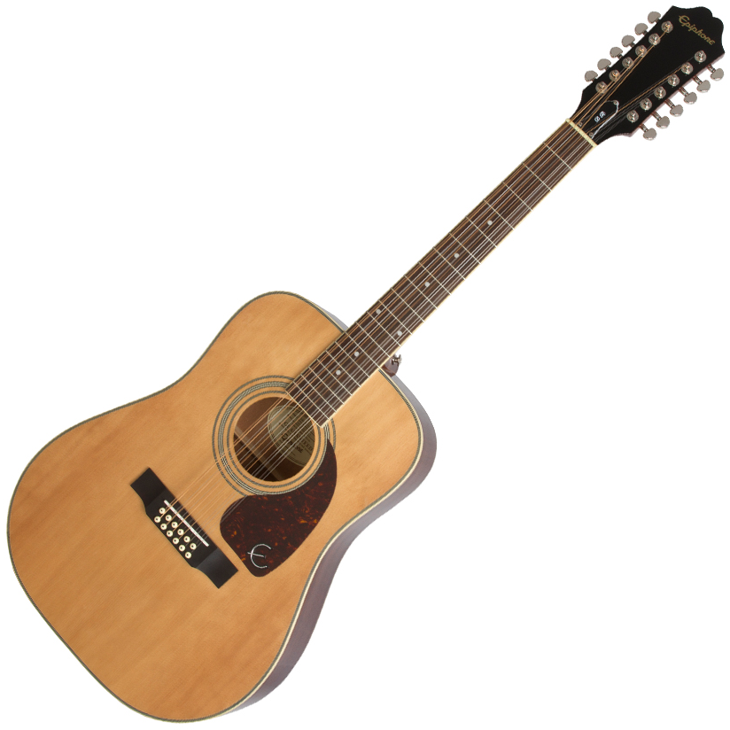Epiphone DR-212 12 String Acoustic Natural - EA2TNACH1