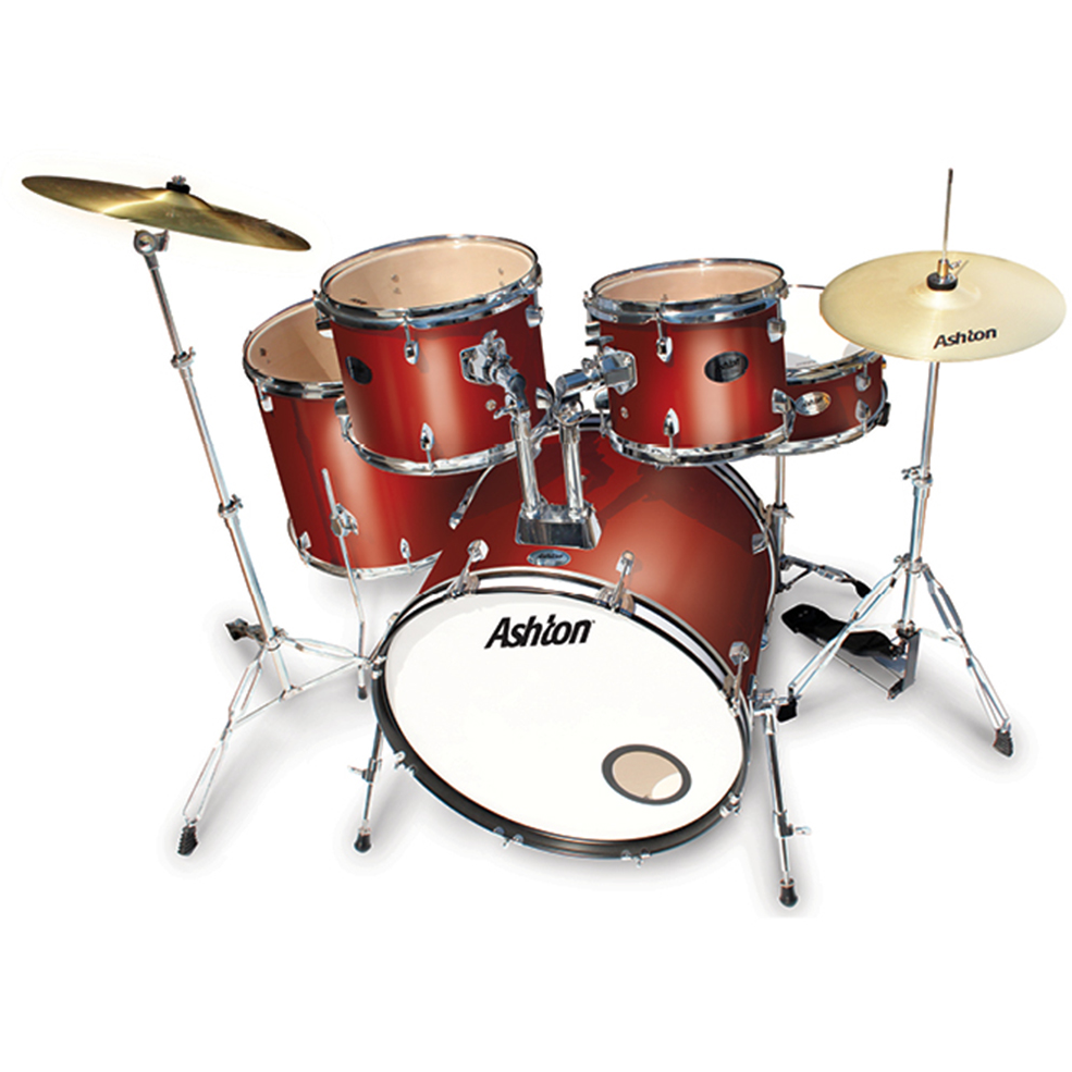 Ashton TDR522WR Rock Drumkit in Wine Red