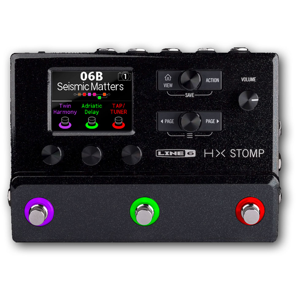 Line 6 HX Stomp Compact Professional Guitar Effects Processor