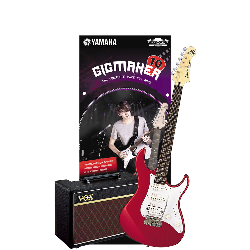 Yamaha Gigmaker10 Red Metallic Electric Guitar Pack