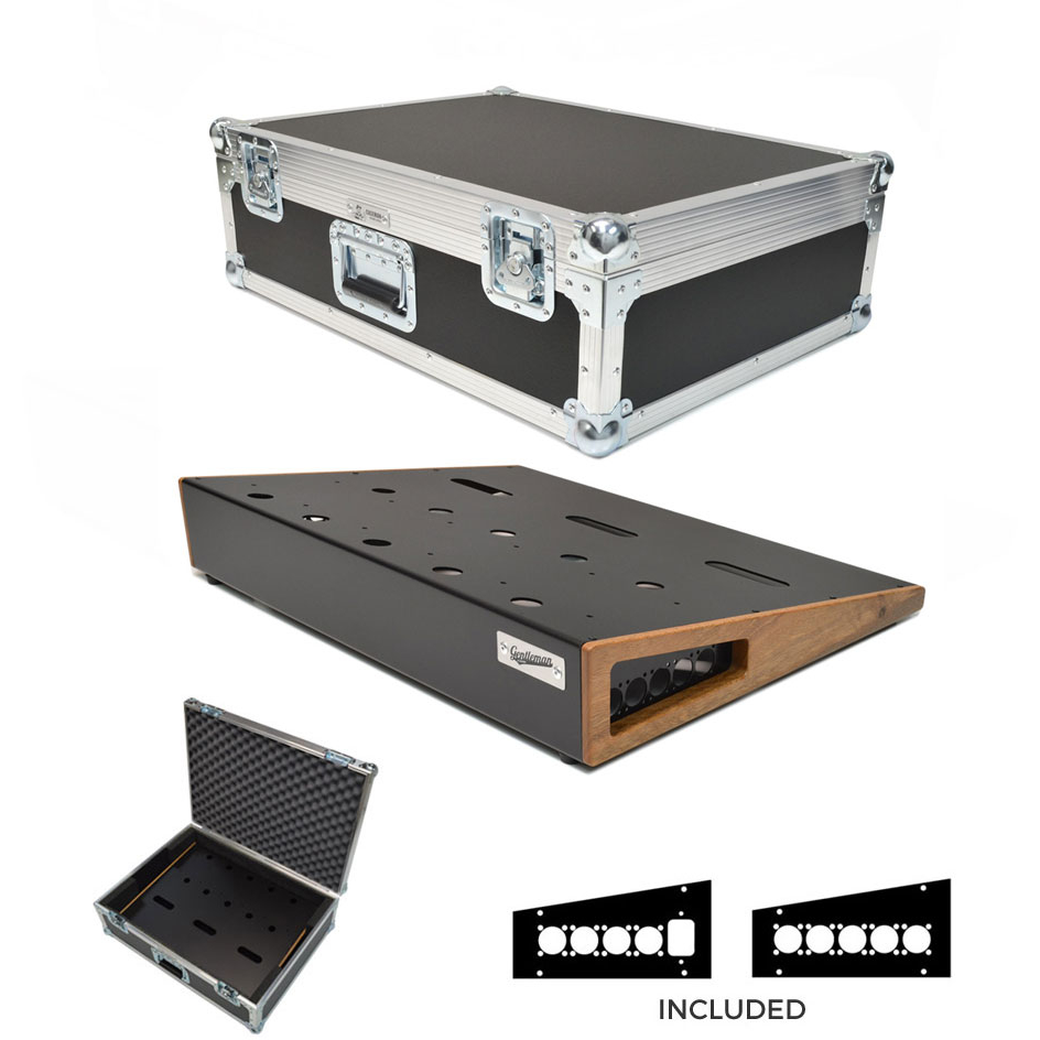 Large Gentleman Combo Pedal Board and Roadcase