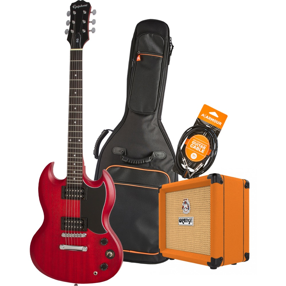 Epiphone SG Special VE CHV Electric Guitar Pack with Orange Crush 12 Amplifier - Armour Gig Bag and Lead