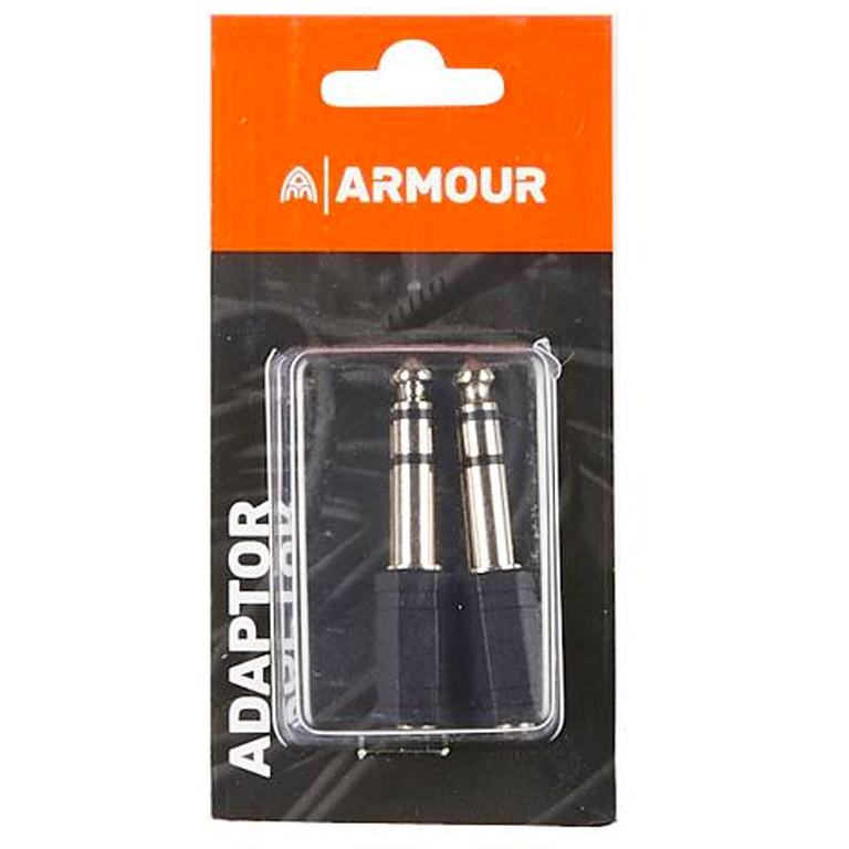 "Armour ADAP2 1/8 to 1/4"" Stereo Adaptor - 2 Pieces"