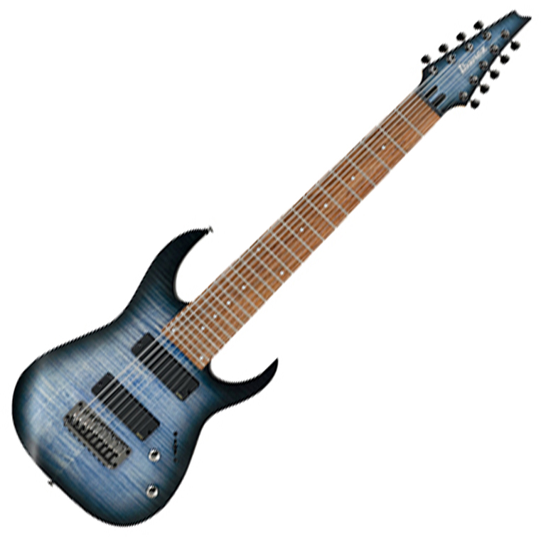 Ibanez RGIR9FME FDF Electric Guitar - Faded Denim Burst Flat