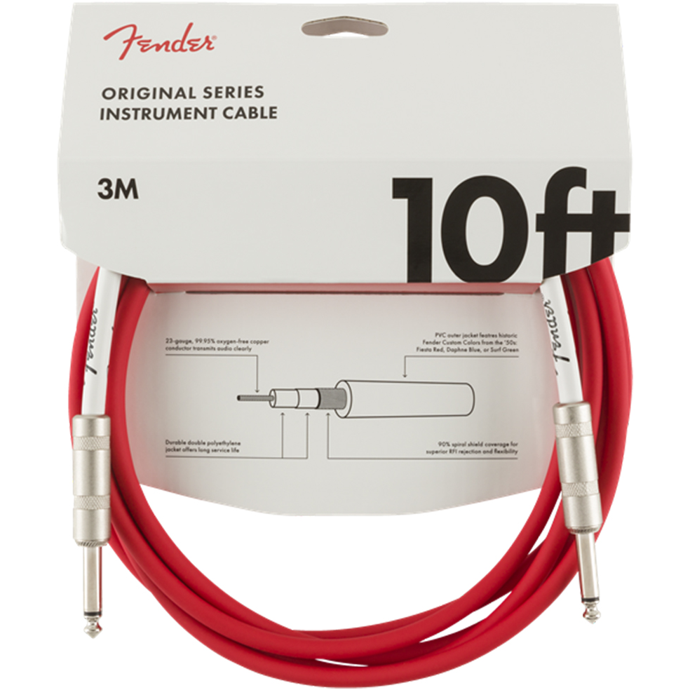 Fender Cable - Original Series - 10' Candy Apple Red