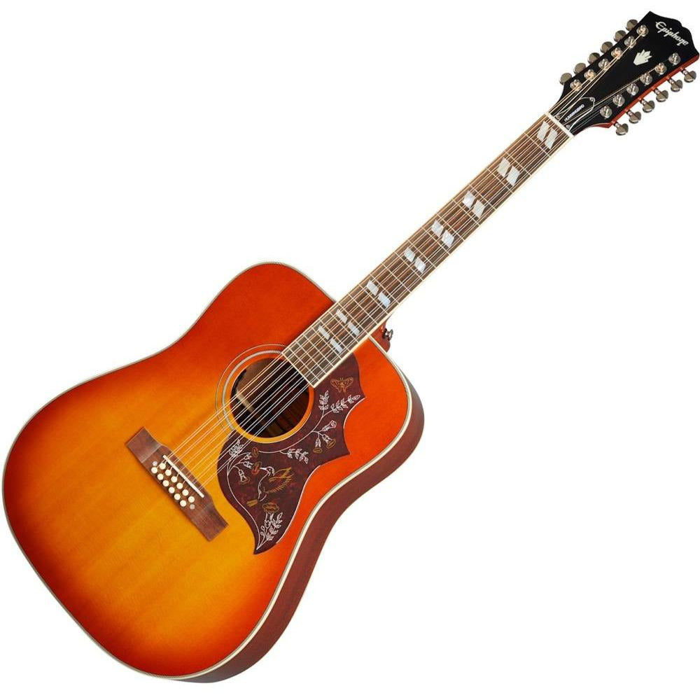 Epiphone Hummingbird 12-String Aged Cherry Sunburst - Inspired by Gibson Hummingbird 12-String