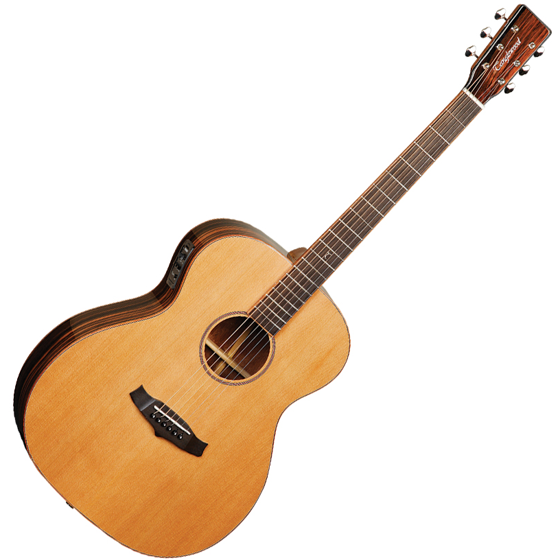 Tanglewood Java Folk Acoustic Electric Guitar - Orchestra - Solid Cedar Top - Amara/Spalted Mango B/S