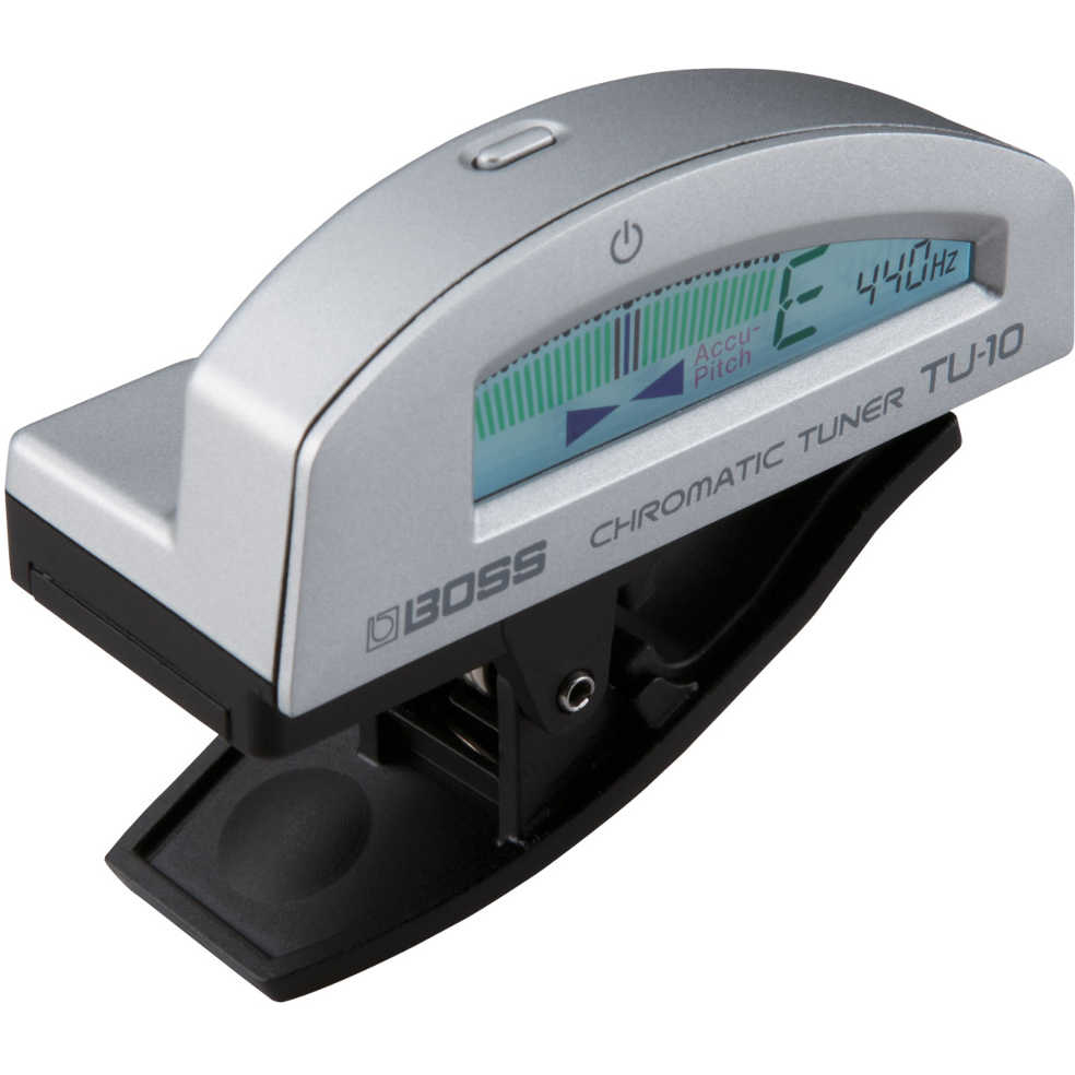Boss TU-10 Clip on Chromatic Tuner (Silver)