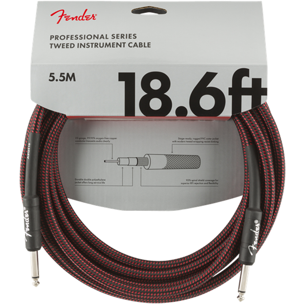 Fender Cable - Professional Series - 18.6' Red Tweed