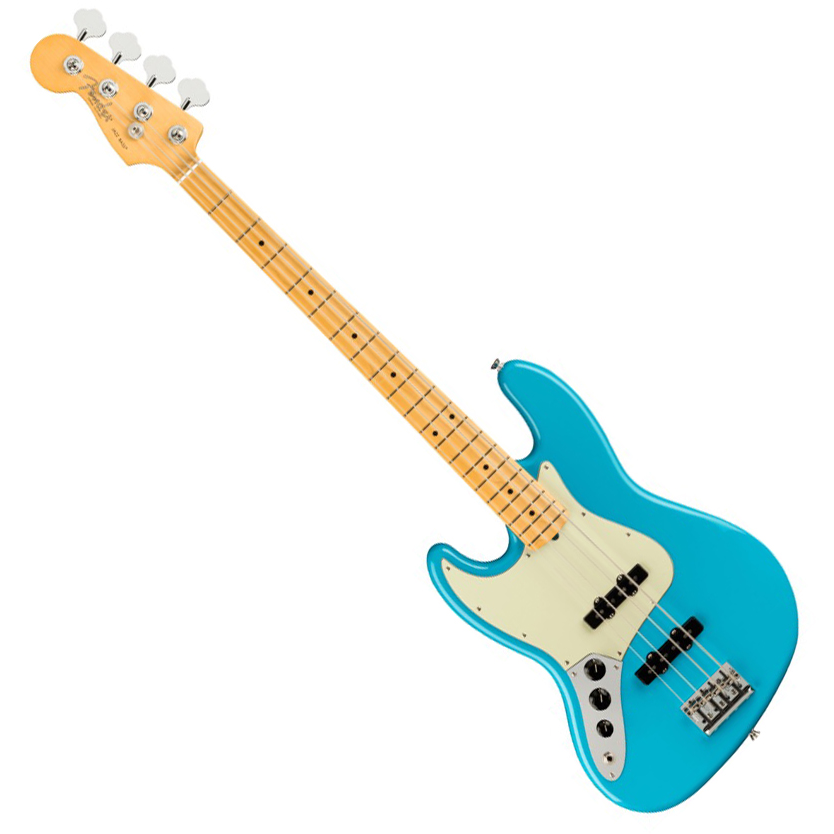 Fender American Professional II Jazz Bass Left-Hand - Maple/Miami Blue