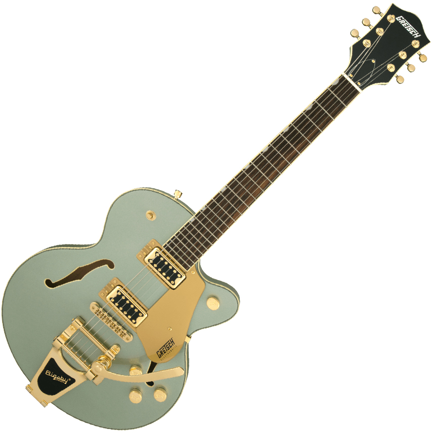 Gretsch G5655TG Electromatic Center Block Jr. Single-Cut with Bigsby and Gold Hardware - Laurel Fingerboard - Aspen Green