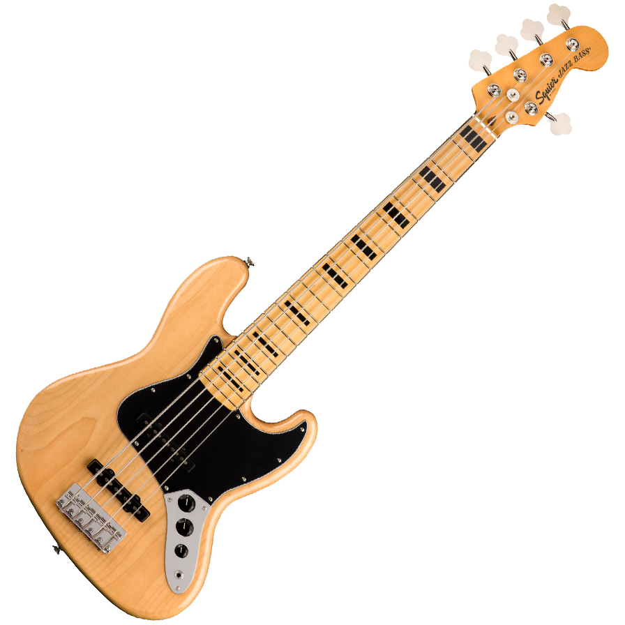 Squier Classic Vibe '70s Jazz Bass V - Maple Fingerboard - Natural