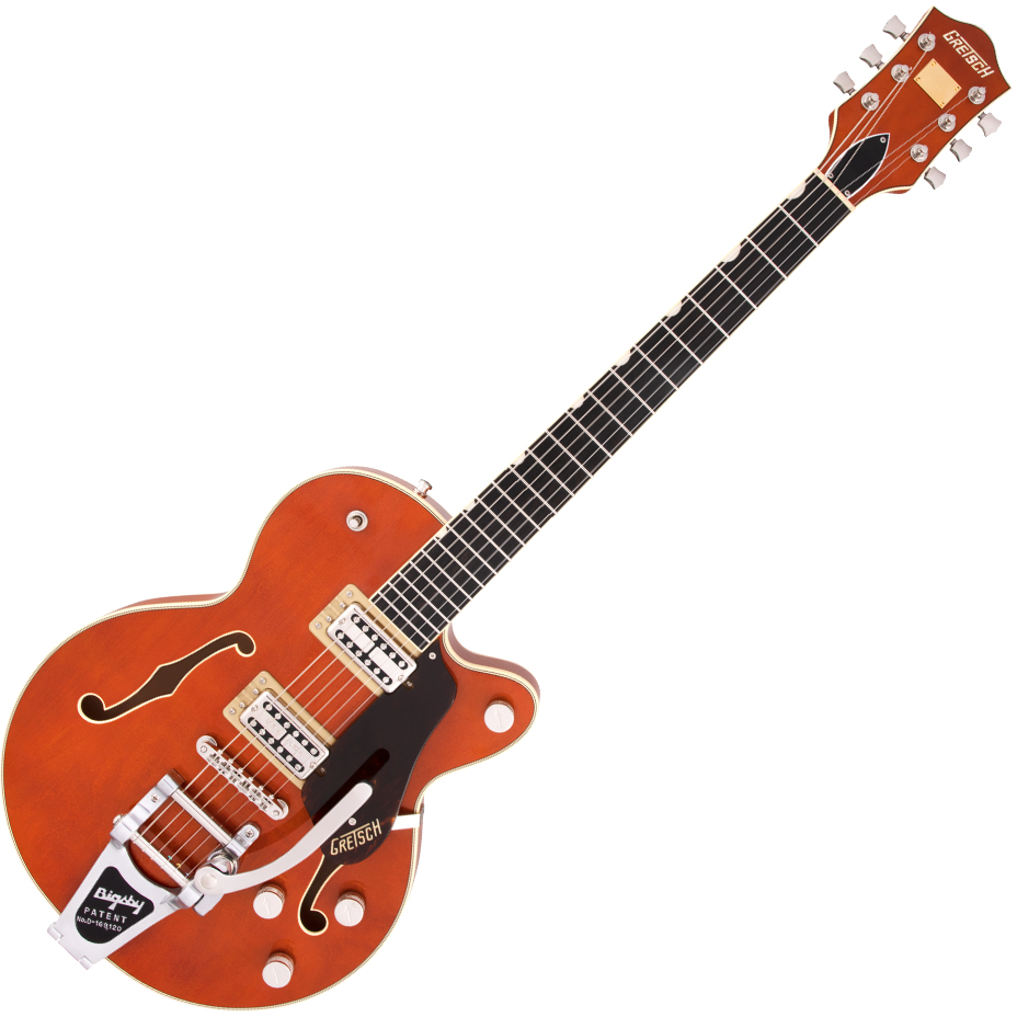 Gretsch G6659T Players Edition Broadkaster Jr. Center Block Single-Cut with String-Thru Bigsby - USA Full'Tron™ Pickups - Ebony Fingerboard - Roundup Orange