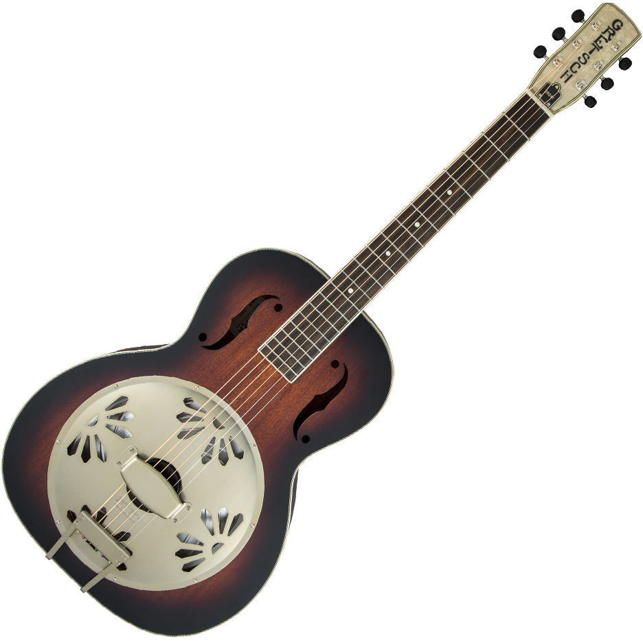Gretsch G9241 Alligator™ Biscuit Round-Neck Acoustic / Electric Resonator Guitar - Padauk/2-Color Sunburst